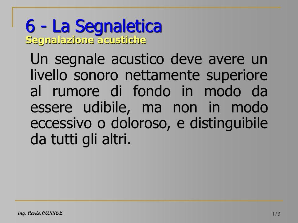 6 - La Segnaletica Segnalazione acustiche