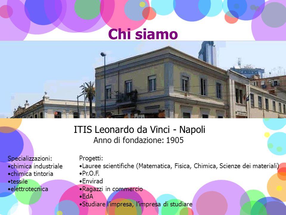 Chi siamo ITIS Leonardo da Vinci - Napoli Anno di fondazione: 1905