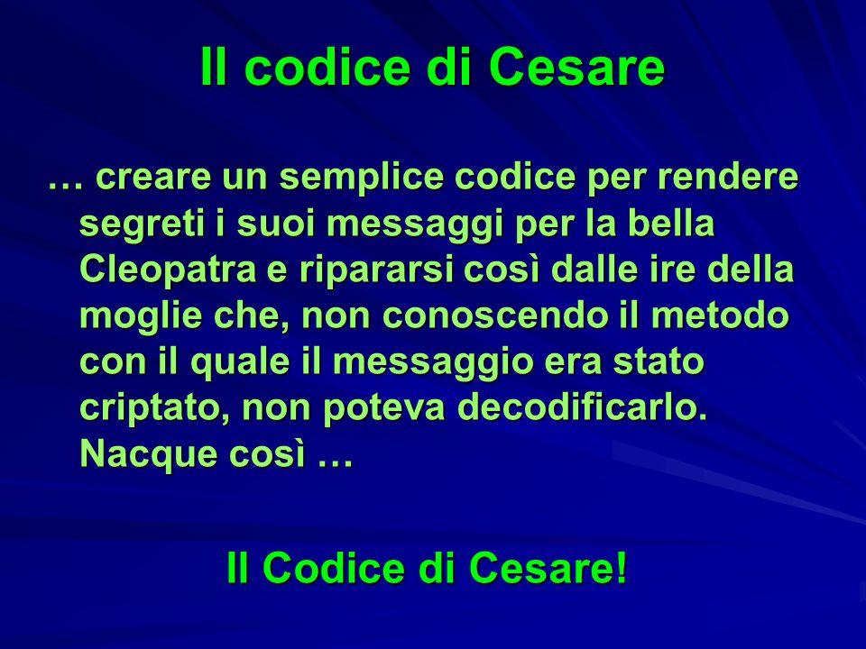 Il codice di Cesare Il Codice di Cesare!