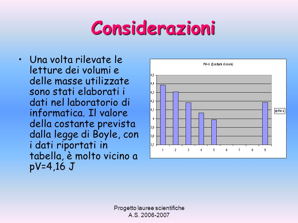 Progetto lauree scientifiche A.S. 2006-2007