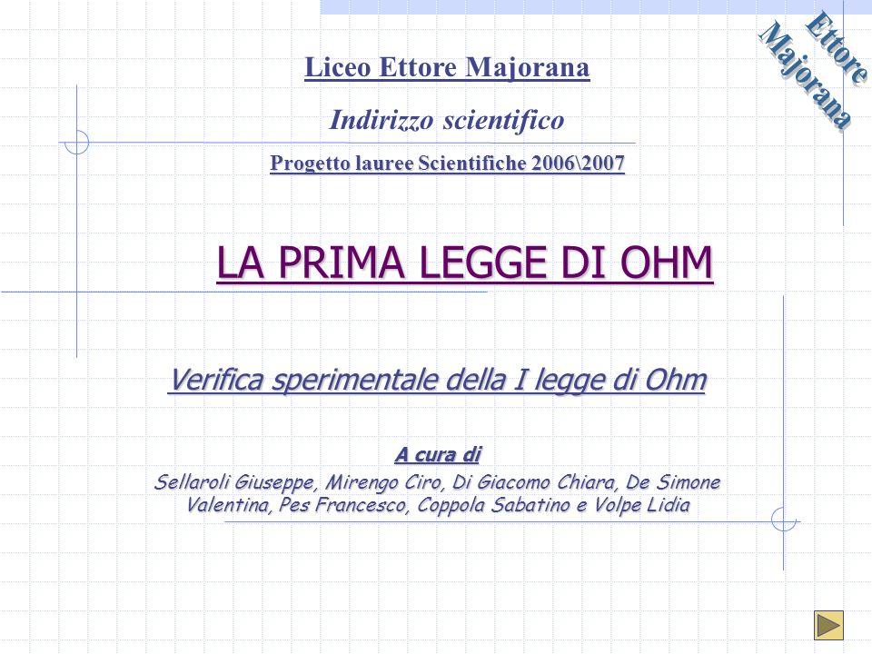 Indirizzo scientifico Progetto lauree Scientifiche 2006\2007