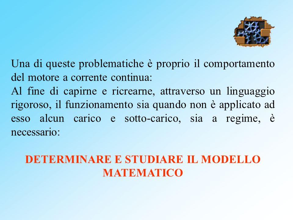 DETERMINARE E STUDIARE IL MODELLO MATEMATICO