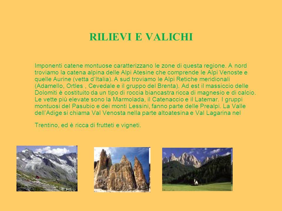 RILIEVI E VALICHI