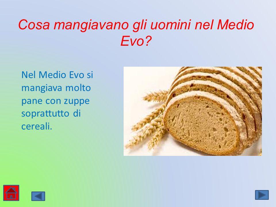 Cosa mangiavano gli uomini nel Medio Evo