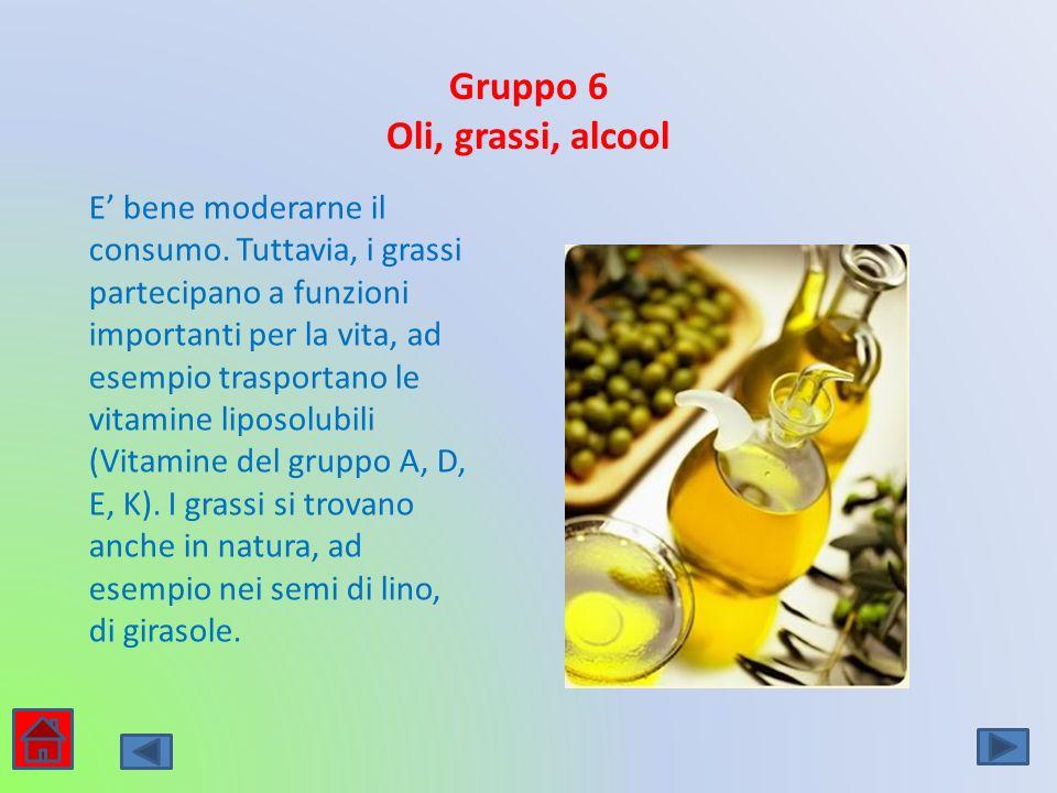 Gruppo 6 Oli, grassi, alcool