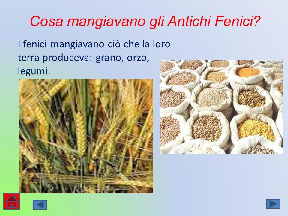 Cosa mangiavano gli Antichi Fenici
