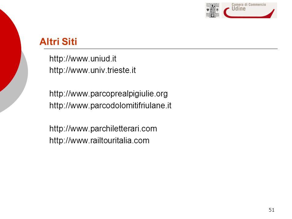 Altri Siti http://www.uniud.it http://www.univ.trieste.it