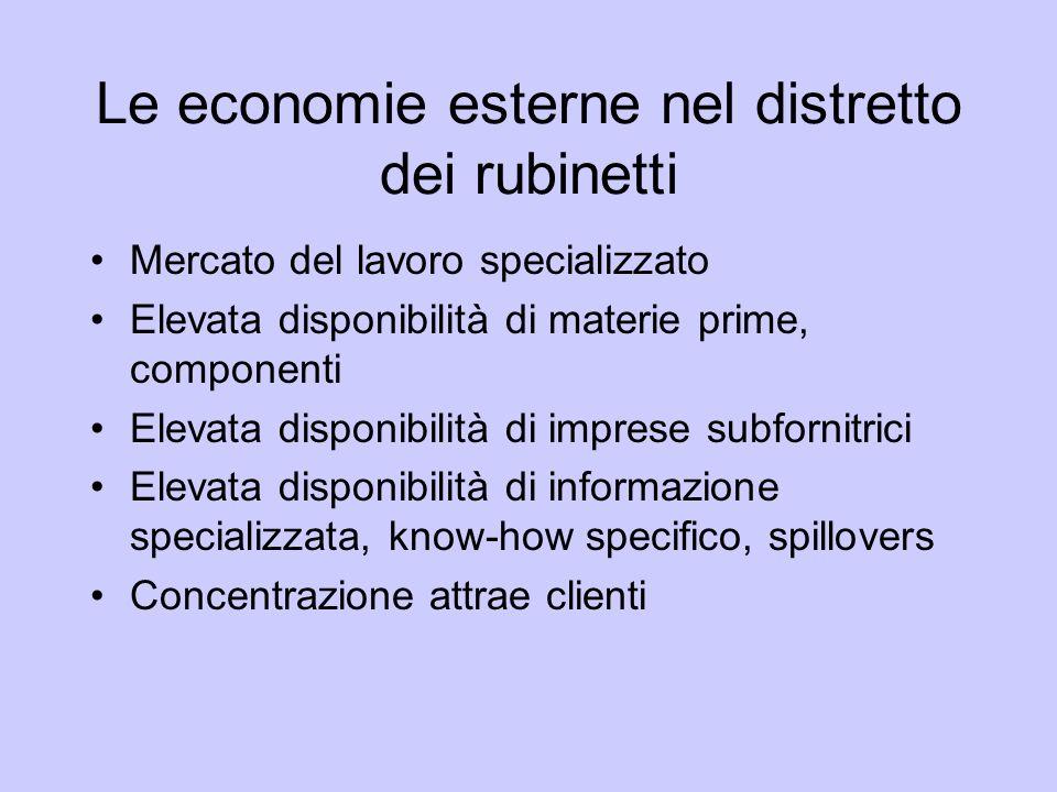 Le economie esterne nel distretto dei rubinetti