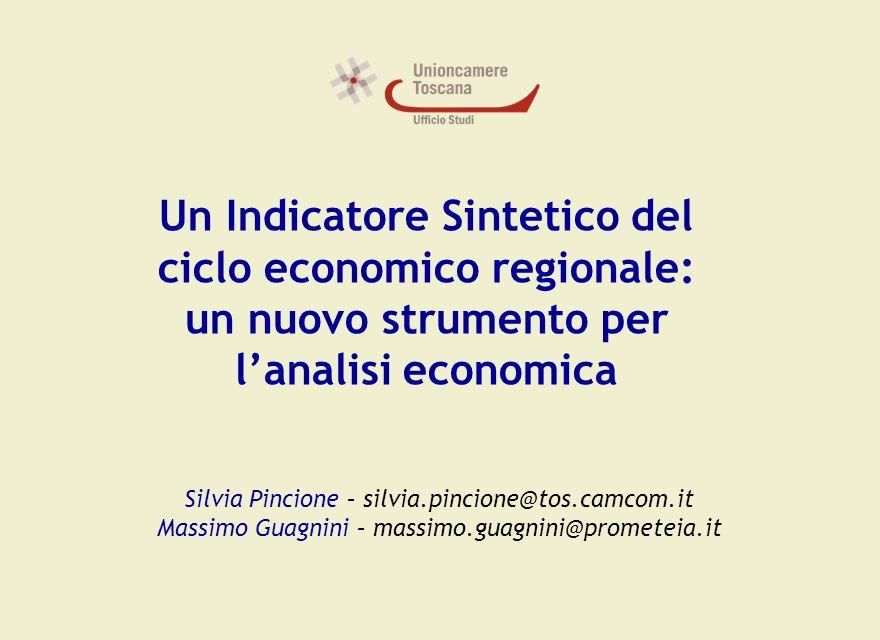 Un Indicatore Sintetico del ciclo economico regionale: un nuovo strumento per l'analisi economica