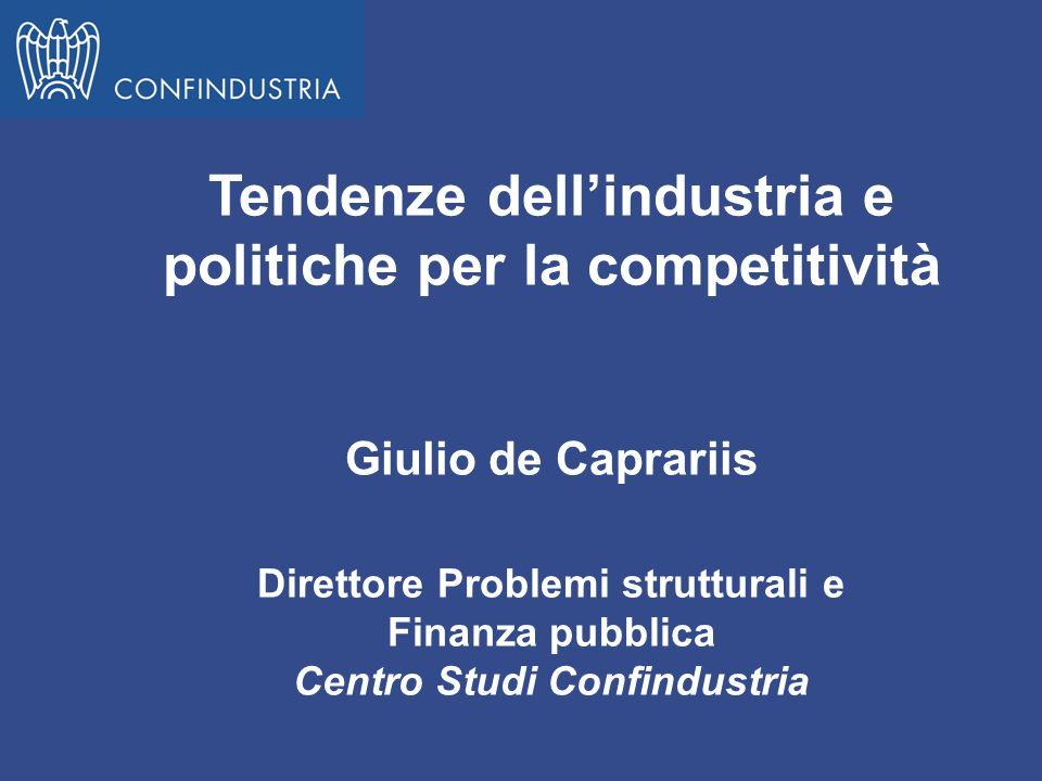 Tendenze dell'industria e politiche per la competitività