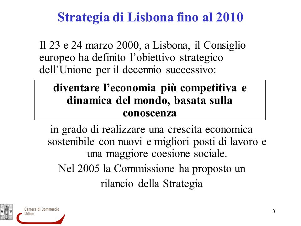 Strategia di Lisbona fino al 2010