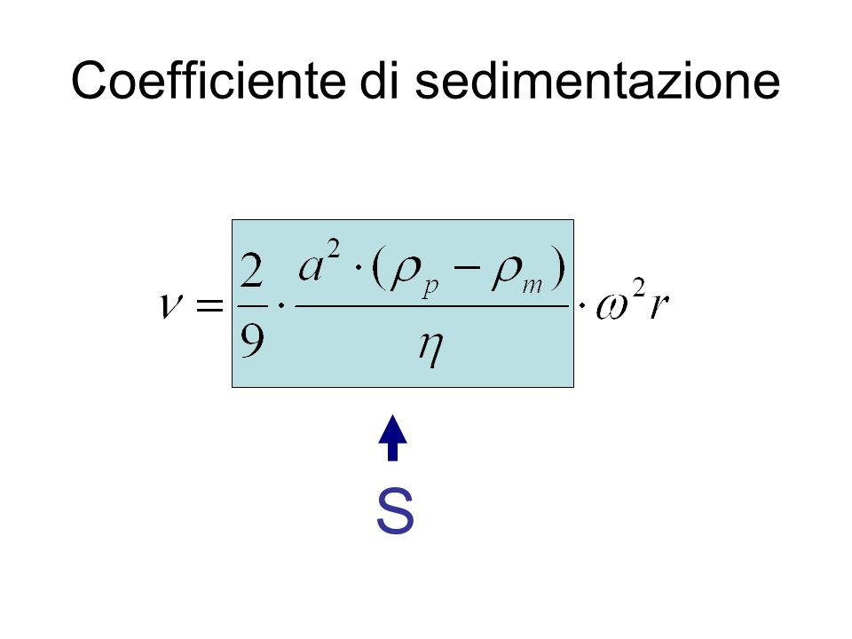 Coefficiente di sedimentazione
