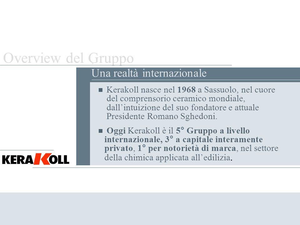 Overview del Gruppo . Una realtà internazionale
