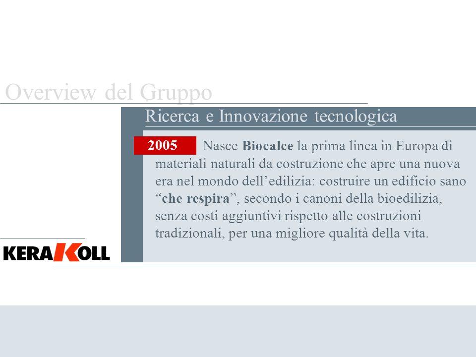 Overview del Gruppo . Ricerca e Innovazione tecnologica 2005
