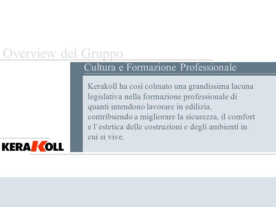 Overview del Gruppo . Cultura e Formazione Professionale