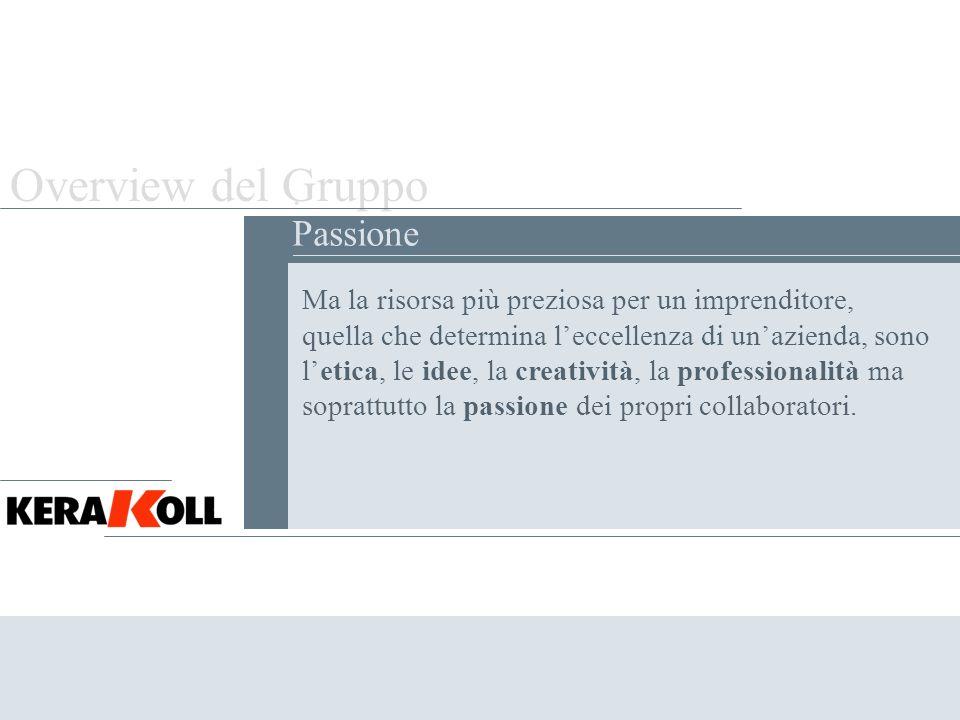Overview del Gruppo . Passione