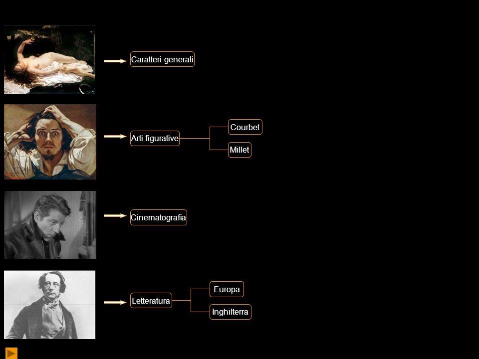 Caratteri generali Courbet. Arti figurative. Millet. Cinematografia. Europa. Europa. Letteratura.