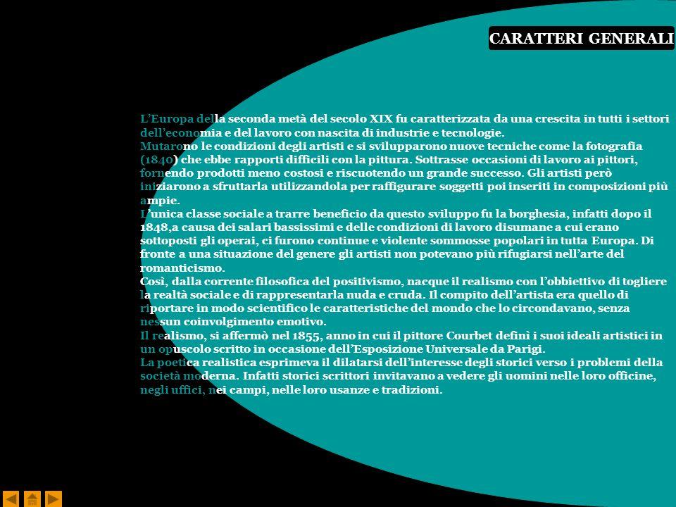 CARATTERI GENERALI L'Europa della seconda metà del secolo XIX fu caratterizzata da una crescita in tutti i settori.