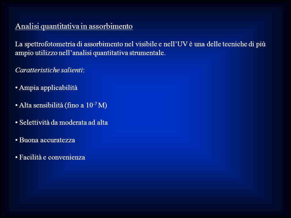 Analisi quantitativa in assorbimento