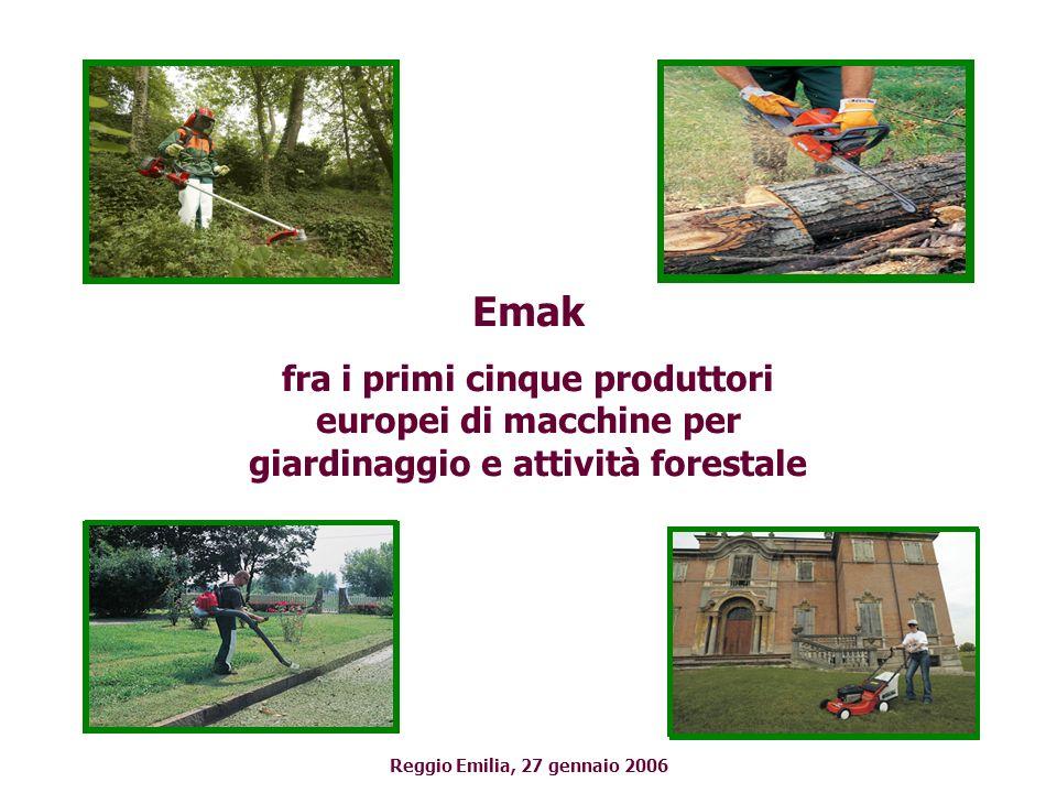 Emak fra i primi cinque produttori europei di macchine per giardinaggio e attività forestale.