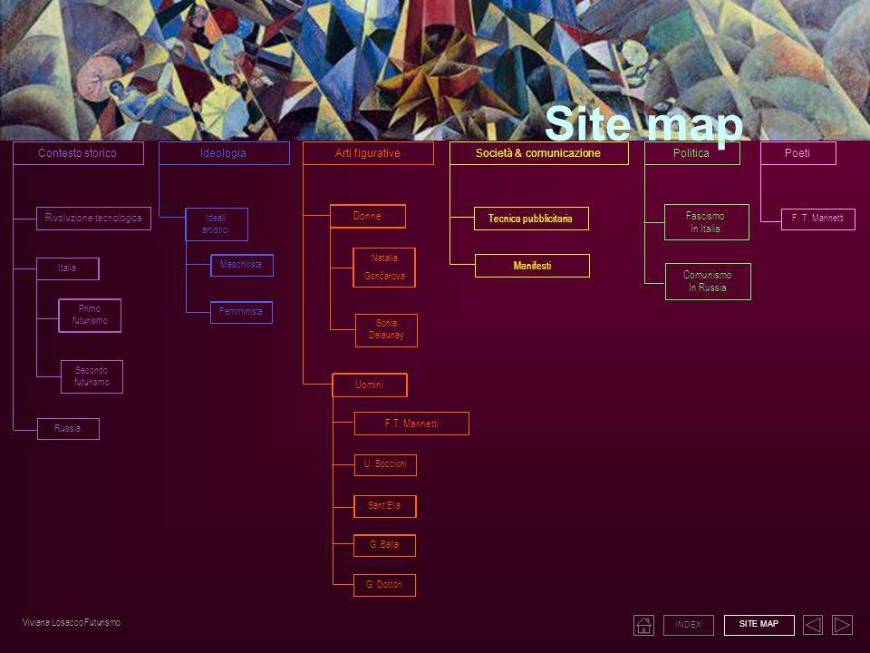 Site map Contesto storico Ideologia Arti figurative