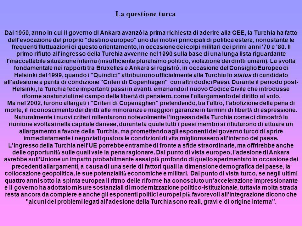 La questione turca La questione turca