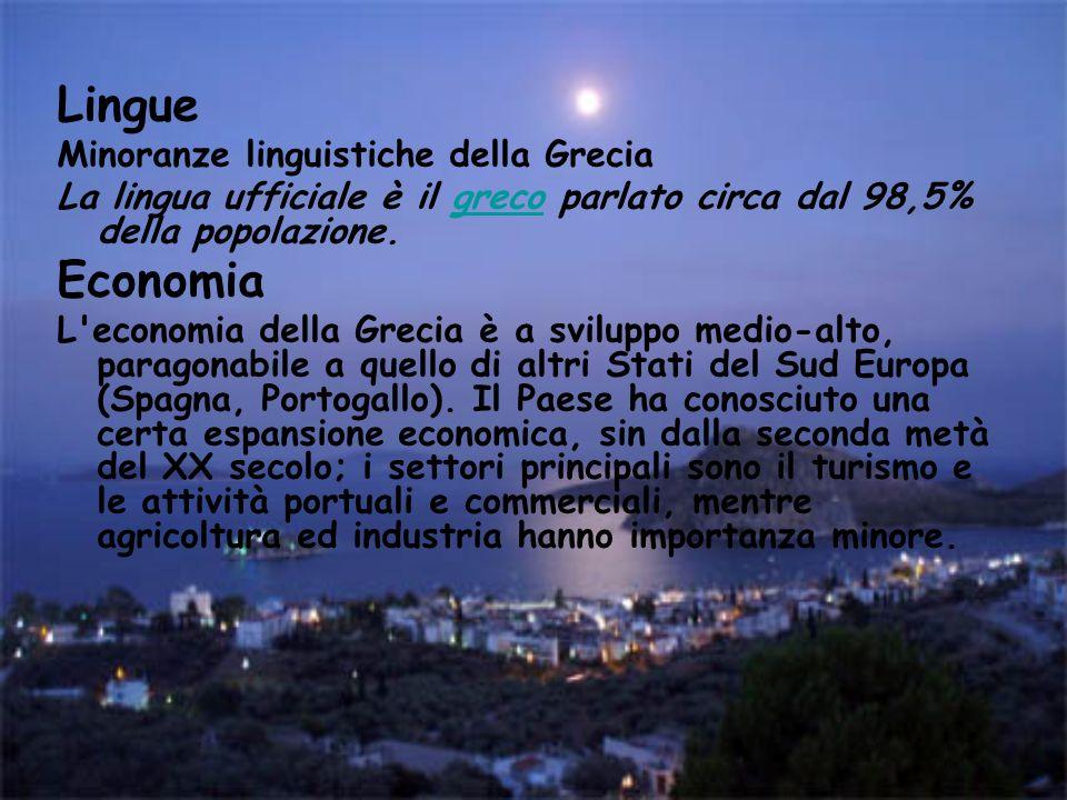 Lingue Economia Minoranze linguistiche della Grecia