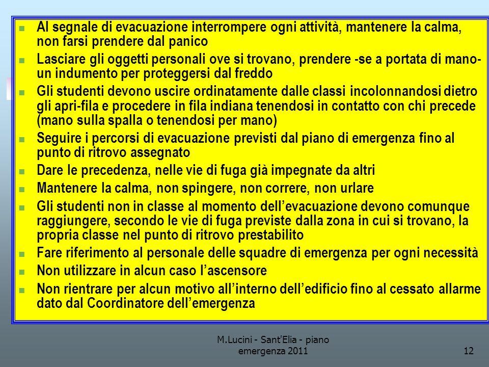 M.Lucini - Sant Elia - piano emergenza 2011