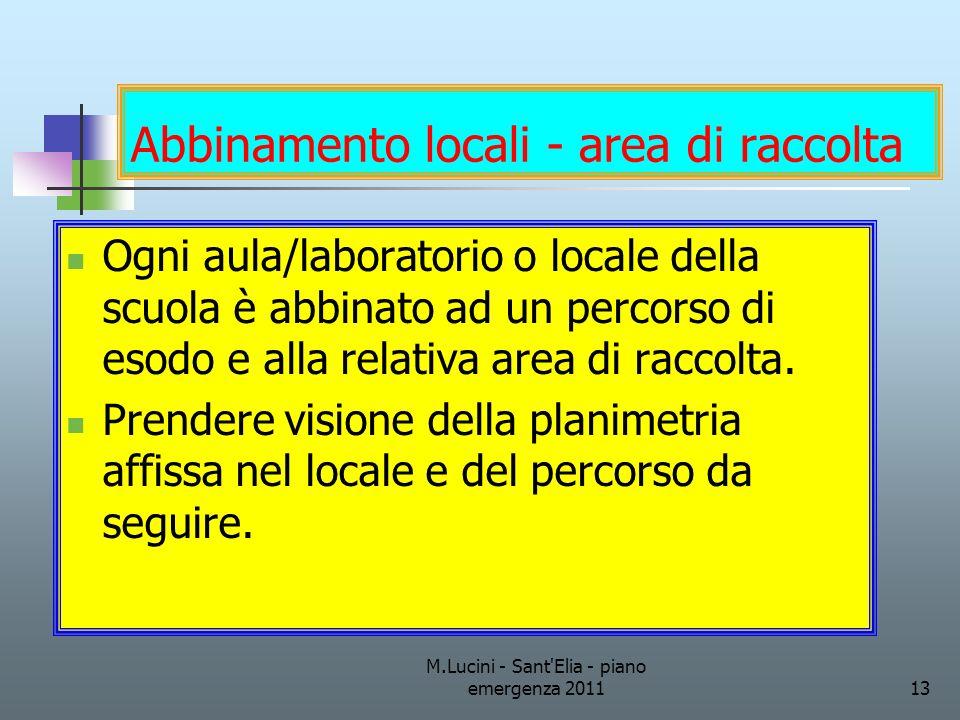 Abbinamento locali - area di raccolta