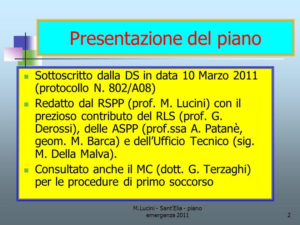 Presentazione del piano