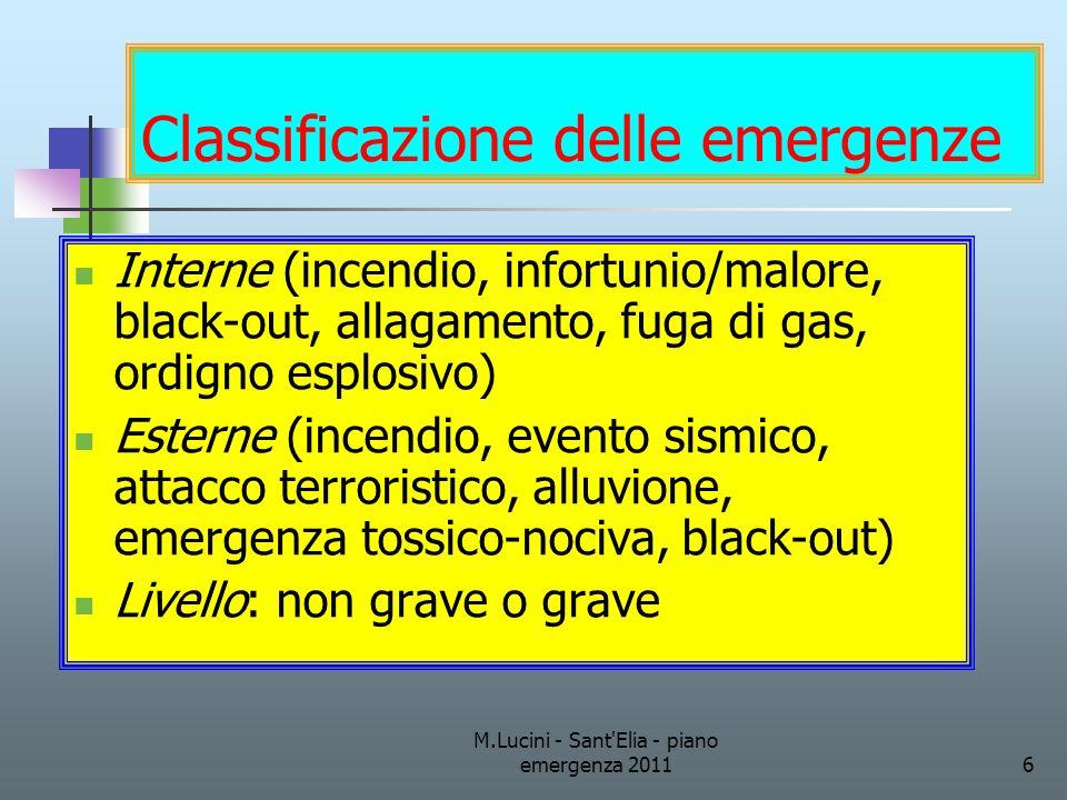 Classificazione delle emergenze