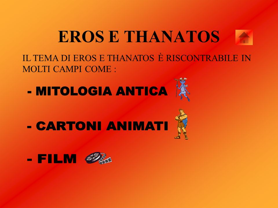 EROS E THANATOS - MITOLOGIA ANTICA - CARTONI ANIMATI - FILM