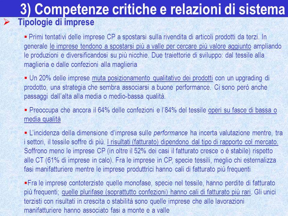 3) Competenze critiche e relazioni di sistema