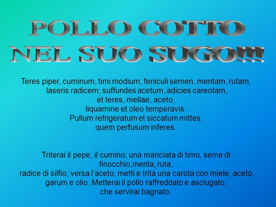 POLLO COTTO NEL SUO SUGO!!!
