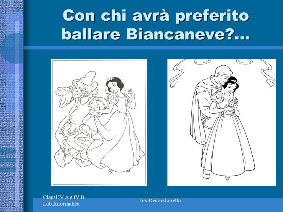 Con chi avrà preferito ballare Biancaneve ...