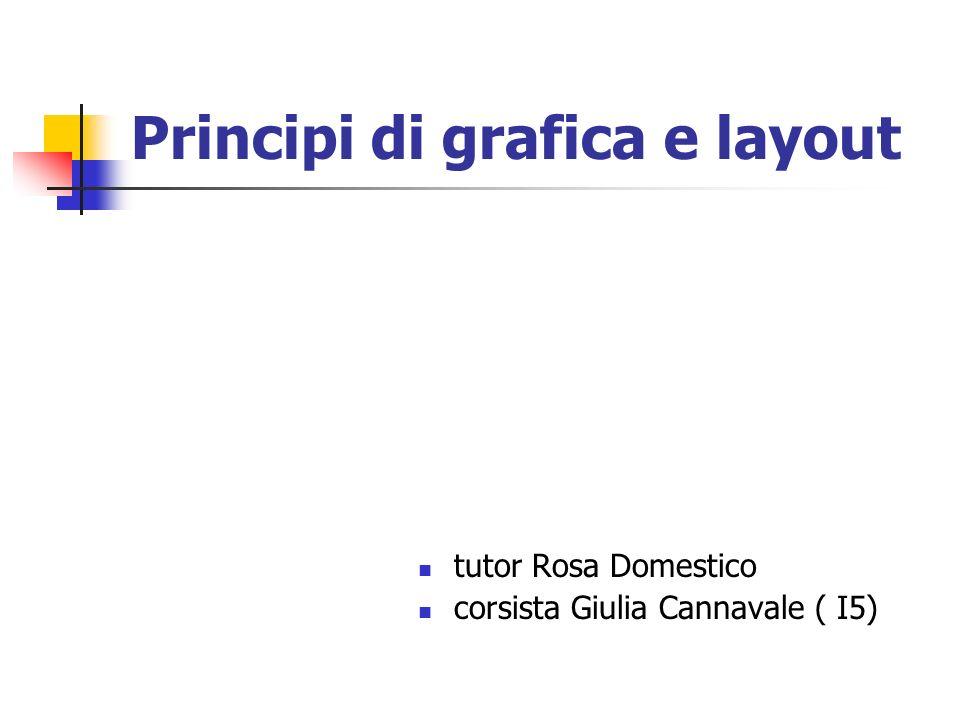 Principi di grafica e layout