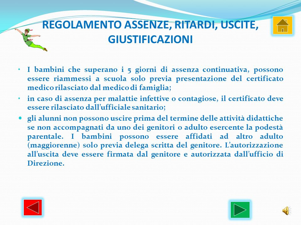 REGOLAMENTO ASSENZE, RITARDI, USCITE, GIUSTIFICAZIONI
