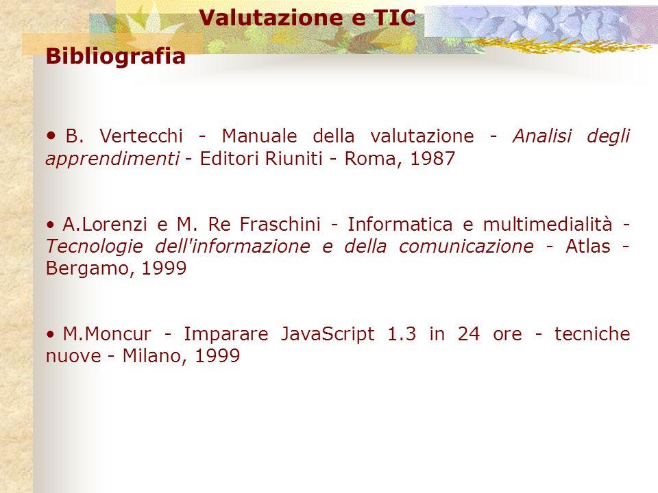 Valutazione e TIC Bibliografia