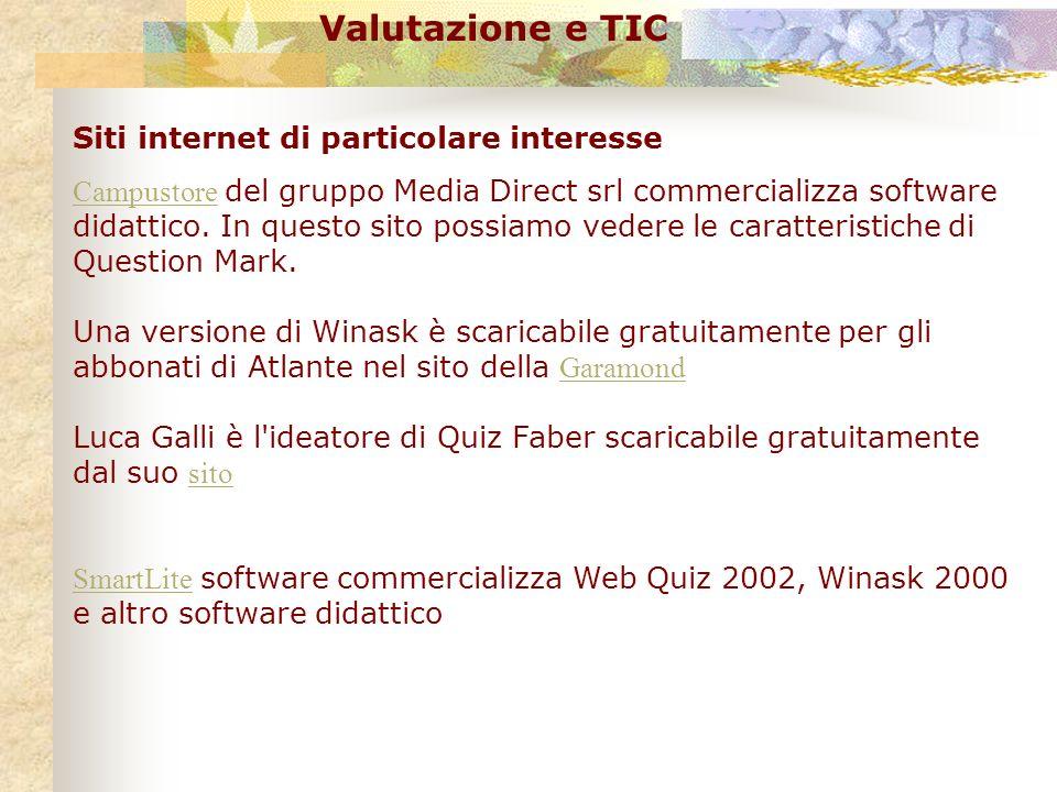 Valutazione e TIC Siti internet di particolare interesse