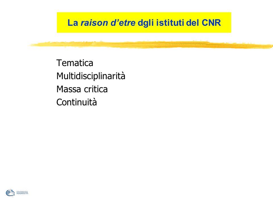 La raison d'etre dgli istituti del CNR