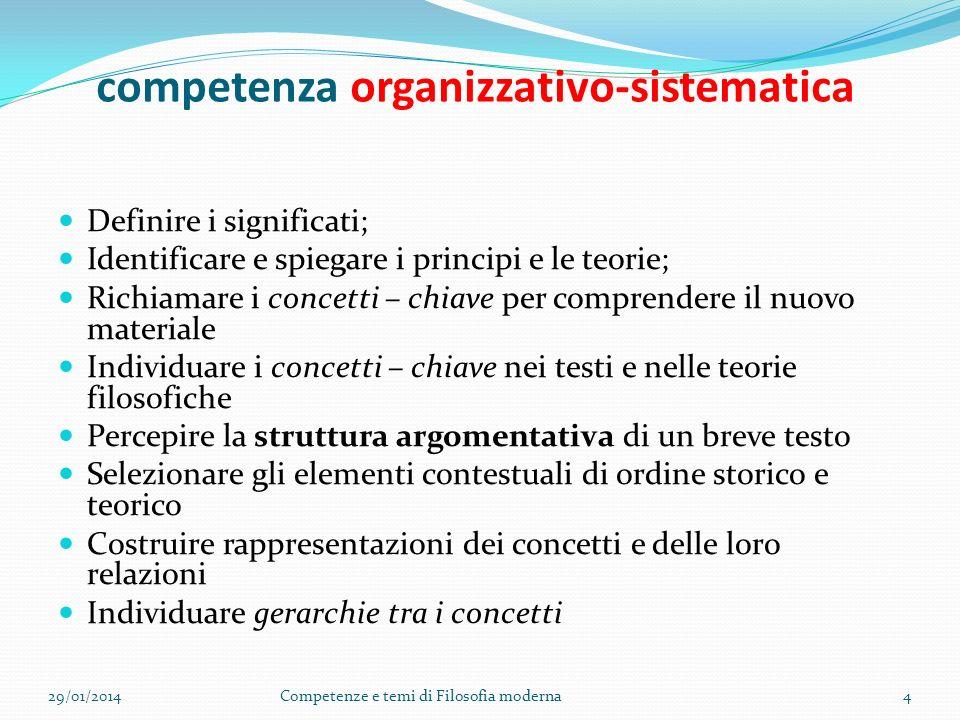 competenza organizzativo-sistematica