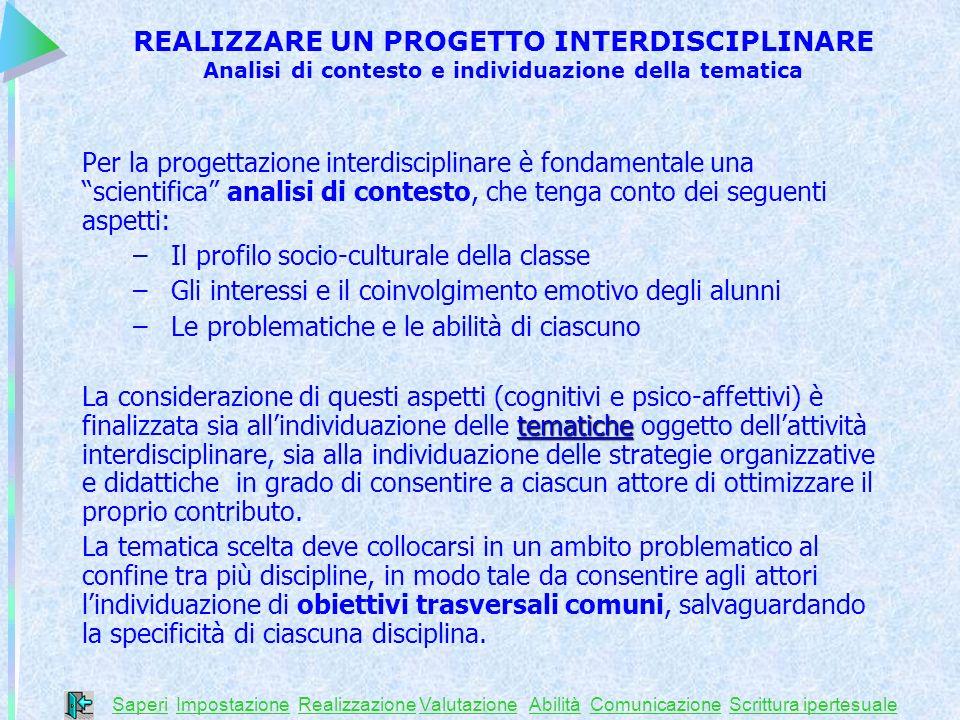 Il profilo socio-culturale della classe