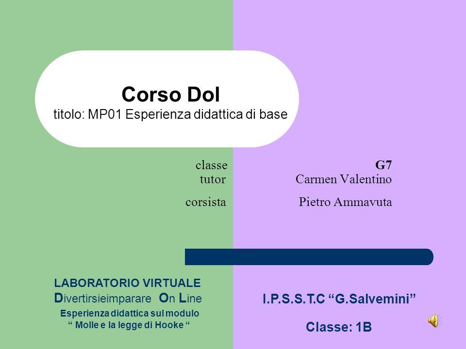 classe G7 tutor Carmen Valentino corsista Pietro Ammavuta