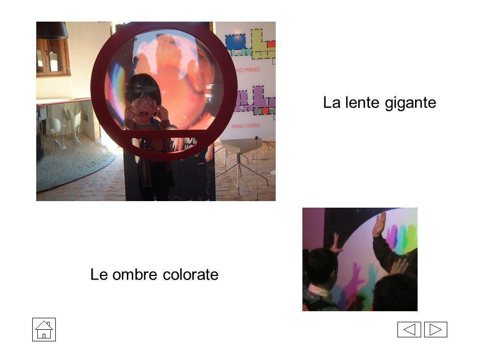 La lente gigante Le ombre colorate