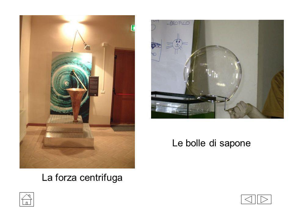 Le bolle di sapone La forza centrifuga