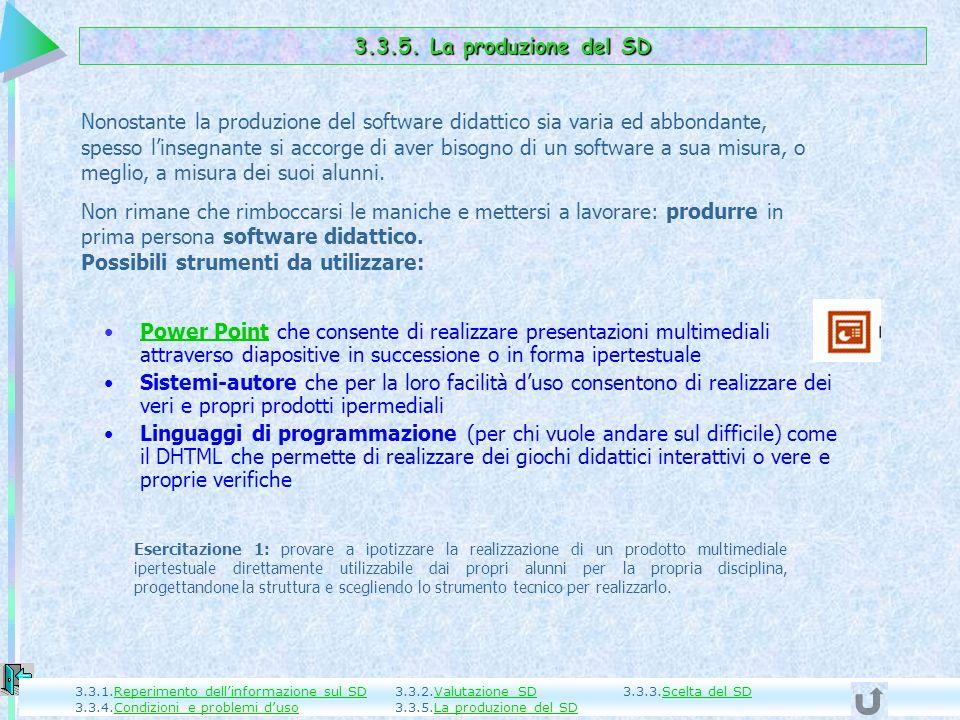 3.3.5. La produzione del SD