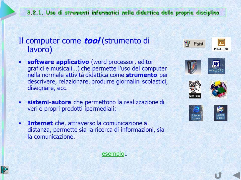 Il computer come tool (strumento di lavoro)