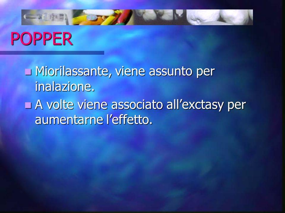 POPPER Miorilassante, viene assunto per inalazione.