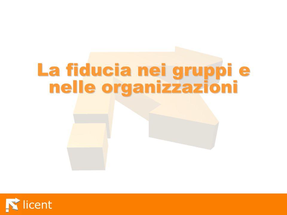 La fiducia nei gruppi e nelle organizzazioni