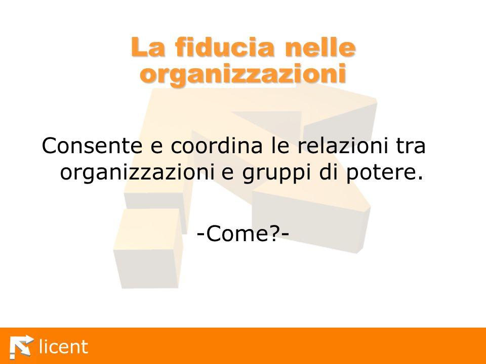 La fiducia nelle organizzazioni